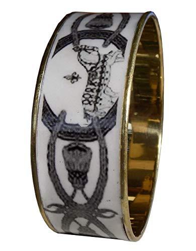 Armband Emaille handwerkliche Pferde an der Parade ind07.