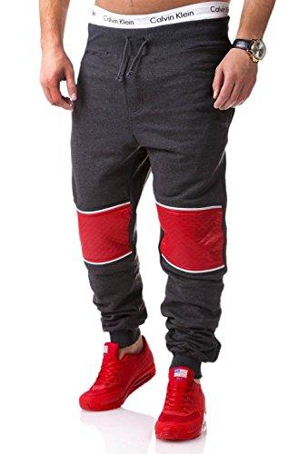 MT Styles Trainingshose mit Zipper Sporthose R-634 [Dunkelgrau, L]