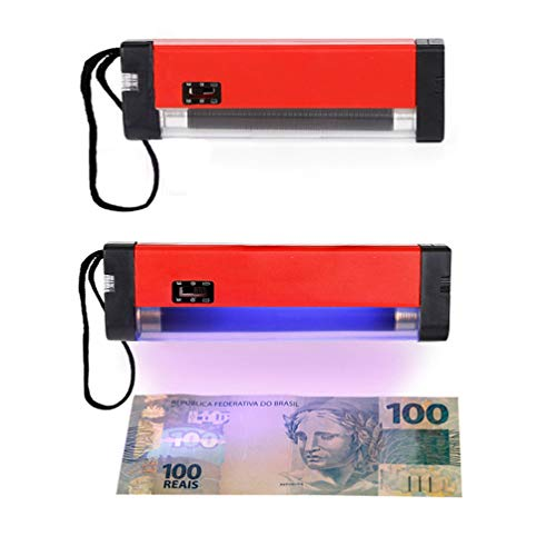 2PCS Handheld Mini Small Portable 2 in 1 Money Detector – Violet Counterfeit Light Detector Suitable for Banks, Hotels…
