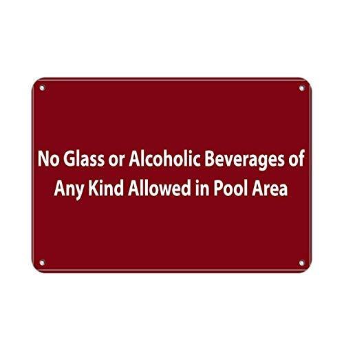 Warnschilder Aufschrift Glass
