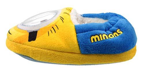 Despicable Me Minions Shakey Eye Hausschuhe, Blau - Blau/Gelb - Größe: 28 EU