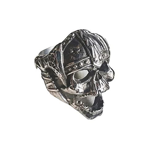 VUJK, anillo motorista acero inoxidable con calavera vikinga Vintage para hombre, joyería nórdica, anillos punk moda 9