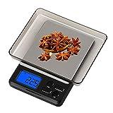 Zorara Balance de Cuisine Électronique, 5kg/1g Balance numérique de Cuisine de Haute Précision, avec Fonction Tare et Compte, Plus Large Plate-Forme, LCD Rétroéclairé, Auto-arrêt (Noir)