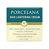 Porcelana Daytime Cream - Fades Dark Spots & Evens Skin Tone - Works on Sun and Age Spots, Acne Scarring, Melasma & Other Discoloration - UVB Sunscreen, Antioxidants & Invisible under Makeup (3 oz)