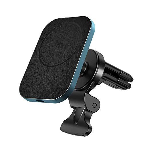 Aplicable al cargador inalámbrico magnético del soporte para automóvil iPhone 12 Pro Max Mini, nuevo soporte de navegación para teléfono móvil 2021, soporte de sujeción de ventilación