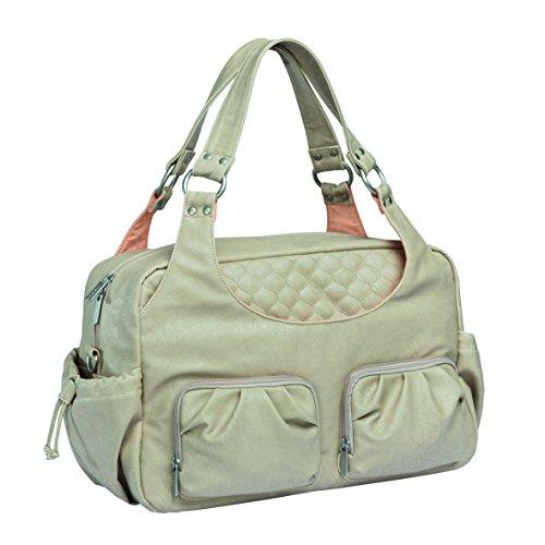 LÄSSIG Baby Wickeltasche babytasche Stylische Tasche Mama inkl. Wickelzubehör/Tender Multi Pocket Bag, nude