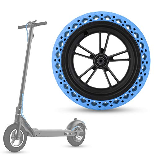 FOLOSAFENAR Resistente al Desgaste del neumático del neumático de Goma de la Vespa Anti de la explosión, para XI, aomi M365(Blue)
