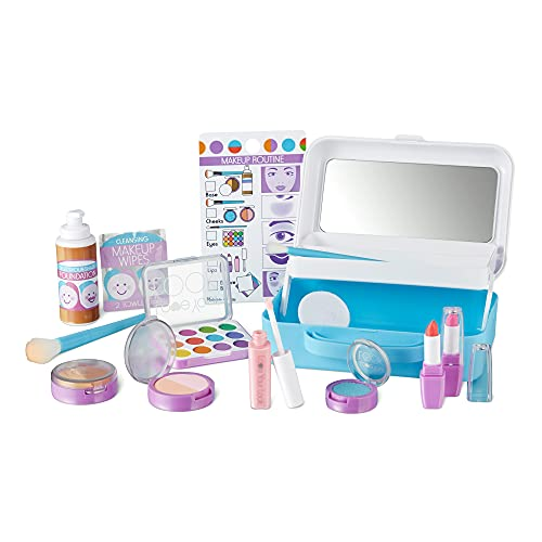 Melissa & Doug Love Your Look Pretend Makeup Kit Play Set – 16 Pieces for Mess-Free Pretend Makeup Play (Does NOT Contain Real Cosmetics)