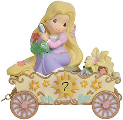 Precious Moments, Disney Showcase Collection, I'm in Heaven to Be Seven!, Disney Birthday Parade, Age 7, Resin Figurine, 114424
