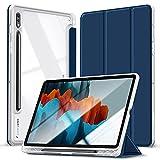 Kdely Funda Compatible con Samsung Galaxy Tab S7 11 Pulgadas, Cover Tablet Case Ultradelgada Carcasa con Soporte Funció - Azul Marino
