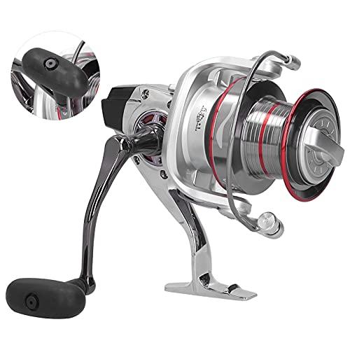 Snufeve6 Carrete de Pesca de Tiro Largo, Carrete de Buena Estabilidad con Bolsa de Almacenamiento para Peces Grandes