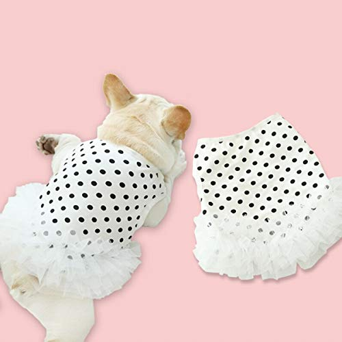 【24HOURS】フレンチブルドッグ フレブル 女の子 スカート ペット服 犬 服 洋服 カジュアル おしゃれ 春 夏 かわいい 中型犬 小型犬 大型犬ワンピース 水玉柄 犬服 ドッグウェア