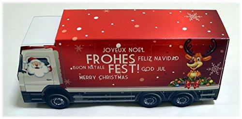 großer LKW / Truck / Laster - 3D Adventskalender / Weihnachtskalender mit Lindt Schokolade