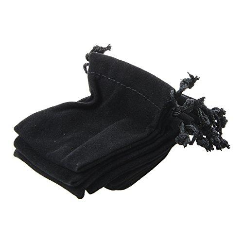 Fltaheroo Bolsas con Cordones de Terciopelo Negro