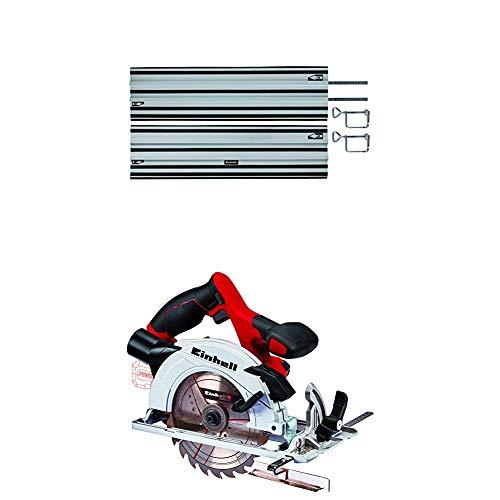 Einhell Führungsschiene (passend für alle Einhell Akku-Handkreissägen und Einhell Expert-Handkreissägen) + Akku Handkreissäge TE-CS 18/165 Li-Solo Power X-Change (Li-Ion, ohne Akku und Ladegerät)