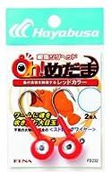 ハヤブサ(Hayabusa) ワーム ジグヘッド Oh!めだま (レッド, 14g/鈎#2/0)