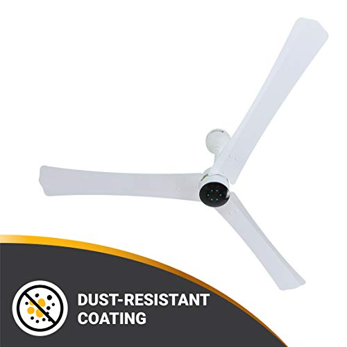 Atomberg Renesa+ 1400mm BLDC Motor Energy Saving Anti-Dust Ceiling Fan with Remote Control | Pearl White| Formerly Gorilla