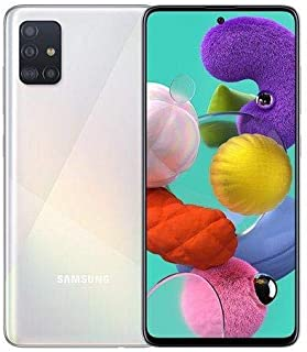 "New Samsung Galaxy A51 Prism Crush White [128GB/6GB Dual SIM 6.5"" 48MP] Unlocked Phone"