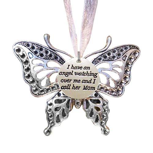 Collar para las niñas de la memoria de la mariposa colgante de recuerdo adornos de aleación de Decoración colgante de la mariposa de la familia de la chuchería de la decoración de regalo Conmemorar