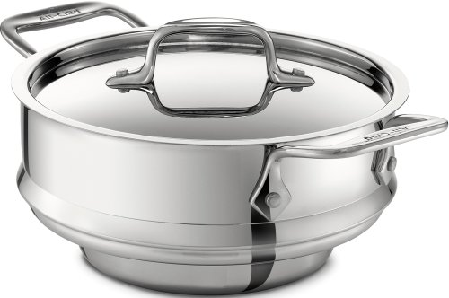 All-Clad 59915 Stainless Steel All-Purpose Steamer with Lid Cookware, Silver