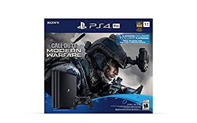 PlayStation 4 Pro 1TB Console - Call of Duty: Modern Warfare Bundle (Renewed)