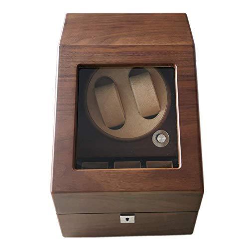 ZCYXQR Caja de bobinado automático de Madera para Reloj, Dispositivo Giratorio de Mesa oscilante de Reloj mecánico, Caja de Almacenamiento de joyería de Reloj Motor silencioso antimagnético