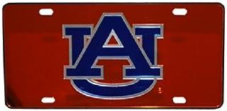 NCAA Auburn Tigers Mirrored Car Tag, One Size, Orange