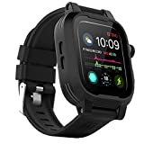 ShellBox Case Waterproof Apple Watch Case Series 6 / Series 5/4/SE 40mm, IP68 Certified Shockproof Impact Resistant Apple iWatch Full Body Protective Case with Built-in Screen Protector(Black)