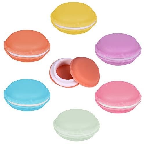 metagio 24 mini macarons cosméticos, joyas, estuche de almacenamiento, mini macarons, bolsa de maquillaje, auriculares, caja para joyas, medicamentos, anillos y pendientes