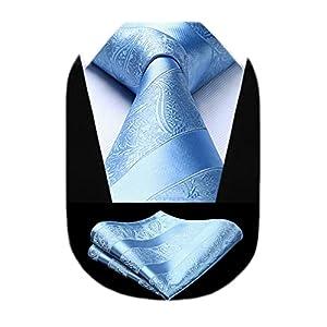結婚式 青 ネクタイ チーフ セット メンズ ペイズリー ネクタイ おしゃれ ビジネス 就活 入学式 卒業式 ブランド プレゼント TP804B8S by HISDERN(ヒスデン)