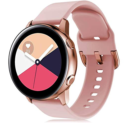 LXFFCOK Samsung Galaxy Watch 3アクティブ2 / 42mm / 41mm /ギアS3 /スポーツシリコーンブレスレットSmar Twatch for Huawei Watch Gt 2 Band 46 (Band Color : Pink gold 5, Band Width : Hauwei GT2 2e 46mm)