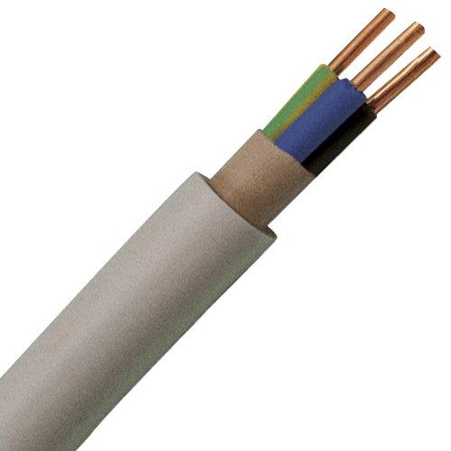 Kopp 153125003 NYM-J 3 x 2,5 mm² Feuchtraum-Kabel, 25 m-Ring