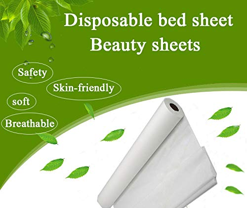 """1 Roll White Disposable Non-Woven Exam Bed Cover, 50 Sheets (31"""" Wide X 354 Feet Long) Feet Massage Bed Sheets Disposable Bed Sheets Table"""