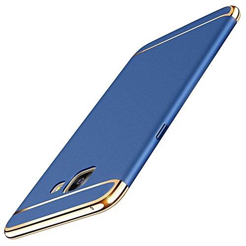 Hülle für Samsung Galaxy A5 2017,360 Grad Ganzkörper Schutz Ultra Dünner 3 in 1 Handyhülle Hart Schrubben PC Plating Kappen Electroplate Schutzhülle Galaxy A5 2017 (Samsung Galaxy A5 2017, Blau)