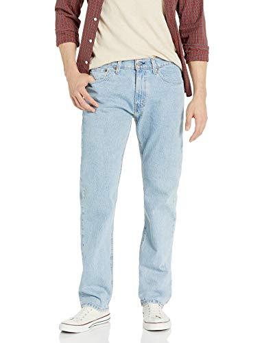 Levi's Herren 505 Regular Fit Jeans, Shooting Star Stonewash – Stretch, 34W x 36L