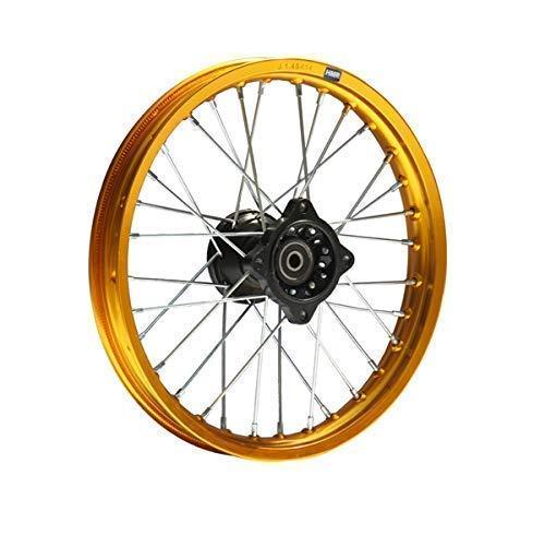 Hmparts Pit Dirt Bike Cross Llantas de Aluminio Anodizado 14 Pulgadas Delant. Oro 12mm Typ2