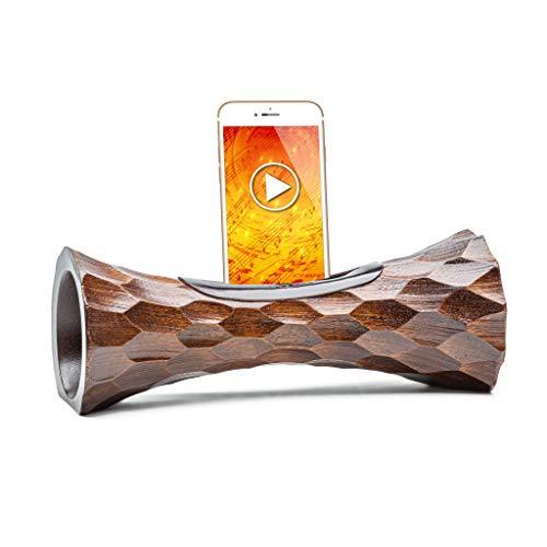 ENCEINTE en bois pour téléphone, haut-parleur iPhone passif en bois, amplificateur NATUREL de son pour smartphone ,cadeau ÉCOLOGIQUE et INSOLITE, enceinte acoustique station d'accueil support en bois
