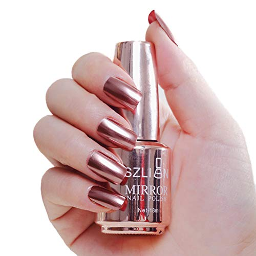 Livecity Ungiftiger Nagellack, Magic Mirror Effect Metallic Chrome Harmloser, Langlebiger Lack, 18 Ml Pro Flasche 2#