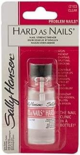 Sally Hansen Nail polish - hard as Nails صبغ أظافر مقوي و مغذي ، لون شفاف طبيعي من سالي هانسن