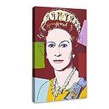 Queen Elizabeth II, Kunst-Pop-Poster auf Leinwand,