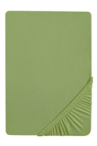 #24 biberna Jersey-Stretch Spannbettlaken, Spannbetttuch, Bettlaken, 90x190 – 100x200 cm, Fichte