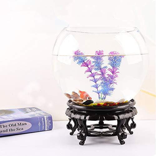 JNDM Tortuga Creativa Tanque de Peces pequeños Redondo de Cristal del Acuario del hogar de la Sala pequeña Tortuga del Tanque de Escritorio Mini del Tanque del Tanque de Peces de Oro D-21CM