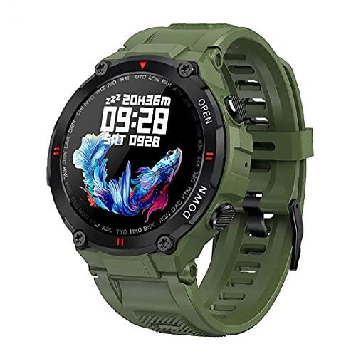 Smart Watch Fitness Tracker Watches Reloj deportivo impermeable con ritmo cardíaco Rastreador de fitness Bluetooth Llamada pantalla táctil completa para Android iOS Green