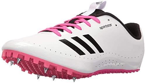 adidas Damen Sprintstar W Damen Laufschuhe mit Spikes, Wei (Weiß/Schwarz/Schock-Pink), 43 EU