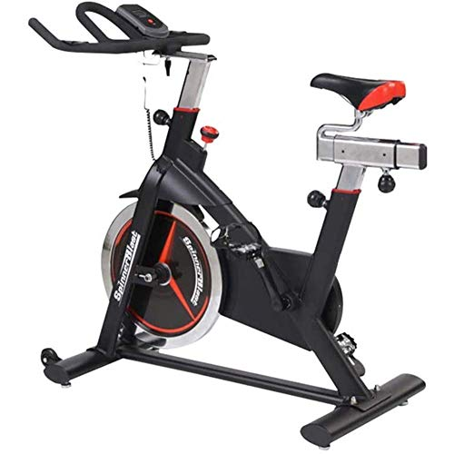 Bicicleta estática silenciosa para el hogar con pantalla LCD, bicicleta de ciclismo para interiores, diseño ajustable de manillar y asiento, fácil de mover con rodillo, para Offi (bicicleta estática)