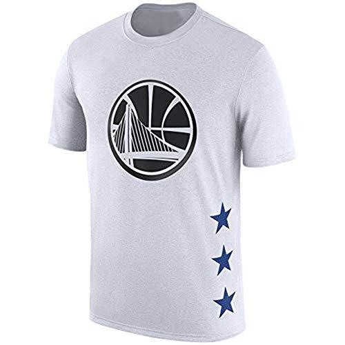 AZHom Camiseta de Manga Corta de Baloncesto Owen James Wade George Curry Harden de algodón de Manga Corta (Color : White, Size : L)