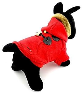 Pegasus pour petit chien chat Pet chiot vêtements vêtements manteau chaud à capuche cornes en polaire à capuche pour homme