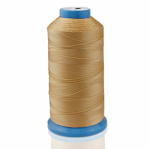 Aussel Bonded Nylon Sewing Thread 1500 Yard Size T70#69 for the Upholstery, Outdoor Market, Drapery, Beading, Luggage, Purses (Yellow)