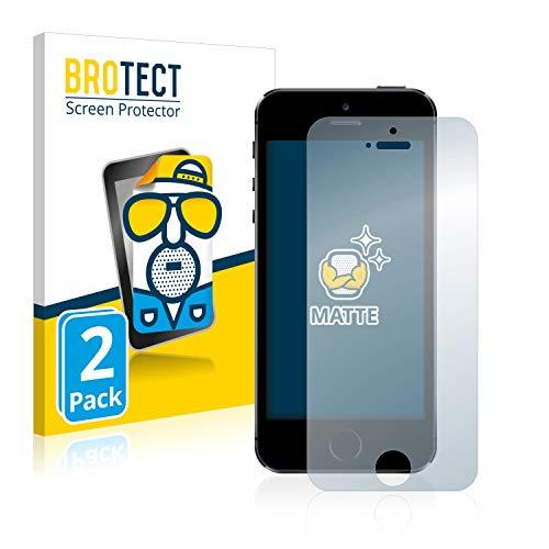 brotect Pellicola Protettiva Opaca Compatibile con iPhone 5 / 5S / 5C / SE 2016 Pellicola Protettiva Anti-Riflesso (2 Pezzi)