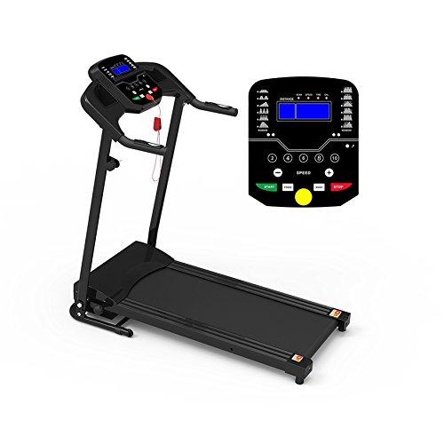 Compribene Tapis Roulant Elettrico Pieghevole Sensore Cardiaco MP3 LCD 500W Picco 3HP PRO